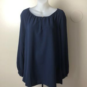 Tory Burch long sleeve blouse size M